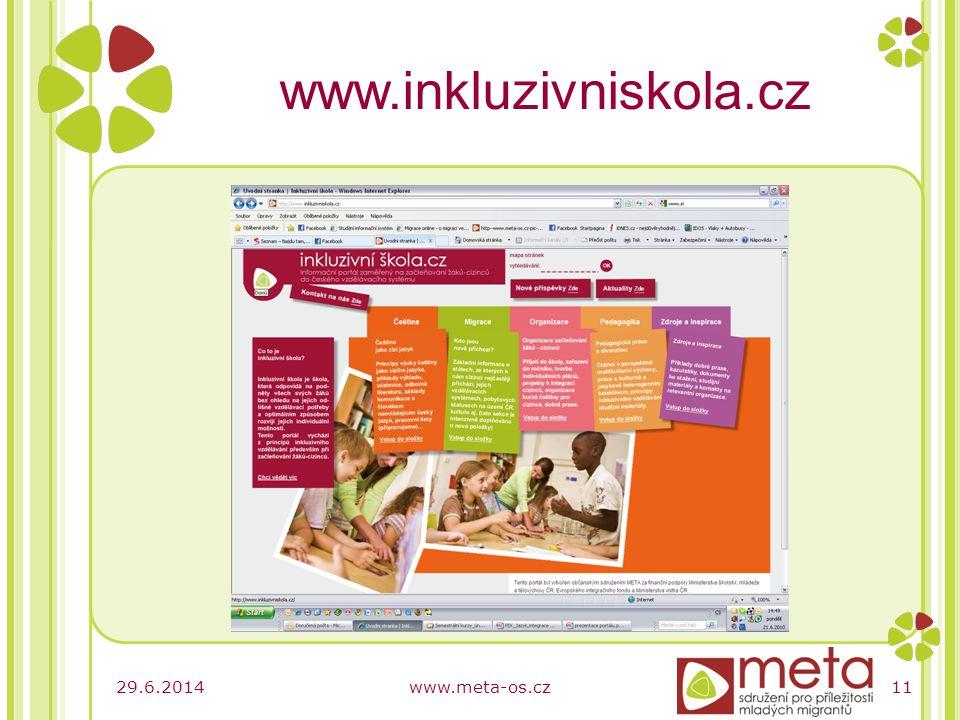 29.6.2014www.meta-os.cz11 www.inkluzivniskola.cz