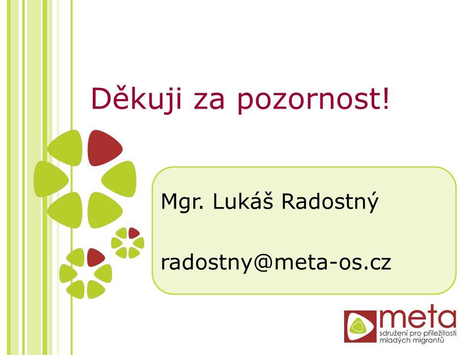 Děkuji za pozornost! Mgr. Lukáš Radostný radostny@meta-os.cz