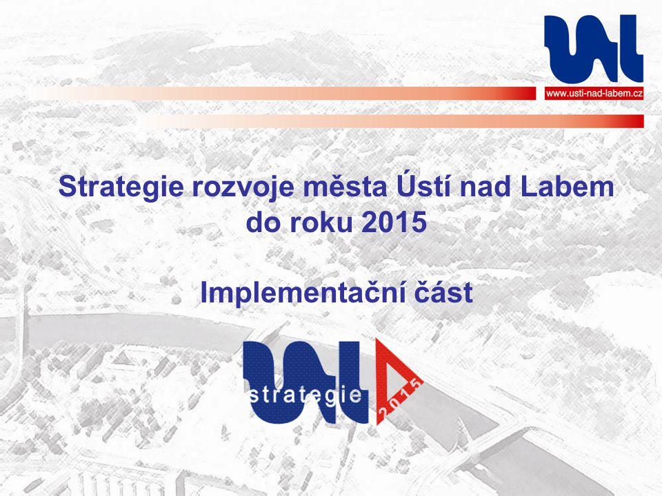 Strategie rozvoje města Ústí nad Labem do roku 2015 Implementační část