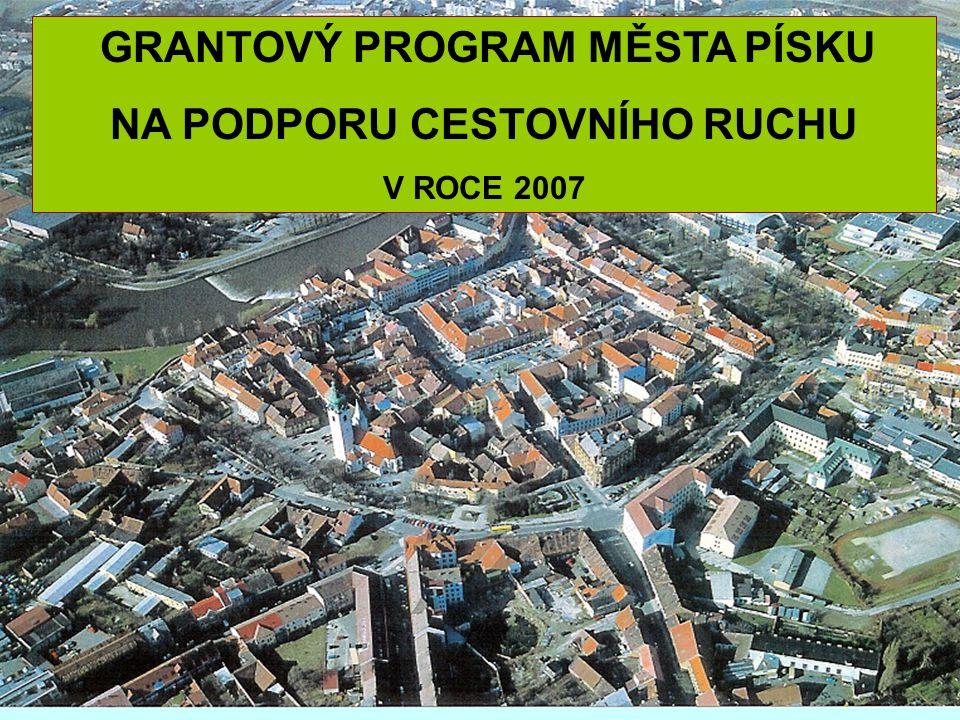 OPATŘENÍ 3 Město Písek – centrum cest.