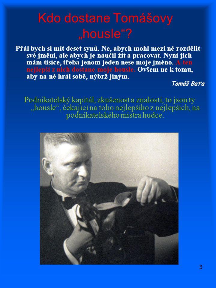 """4 """"Housle jsou předány… Já podepsaný Tomáš Baťa prodávám Vám J."""