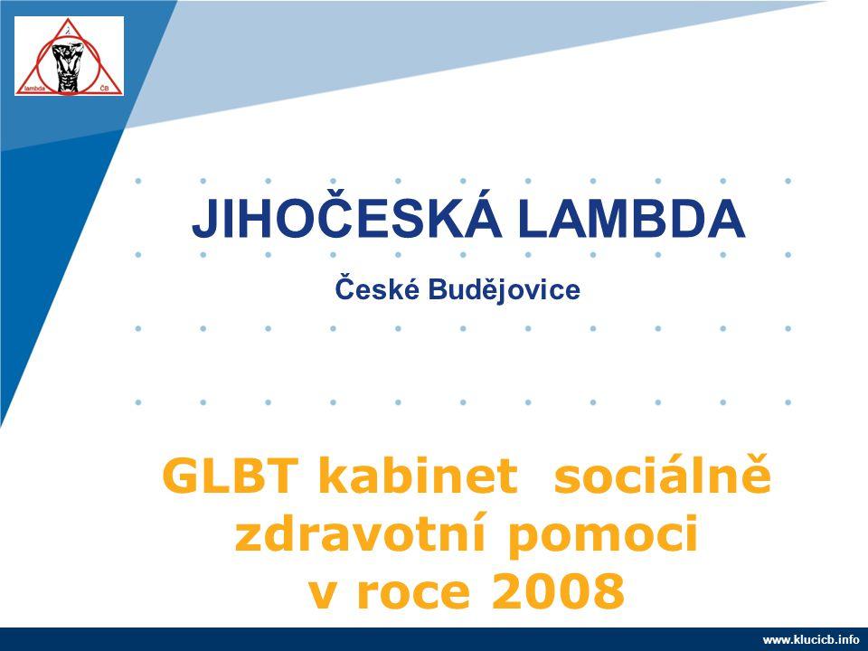 Company LOGO www.company.com GLBT kabinet sociálně zdravotní pomoci v roce 2008 www.klucicb.info JIHOČESKÁ LAMBDA České Budějovice