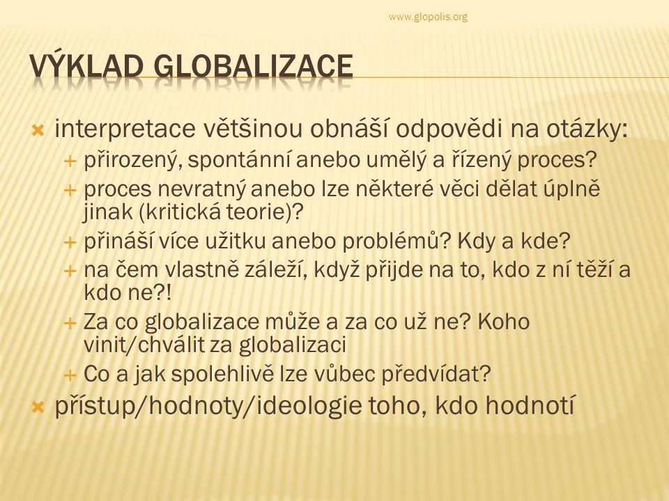Globalizace nebo demokracie – je to tak prosté? www.glopolis.org
