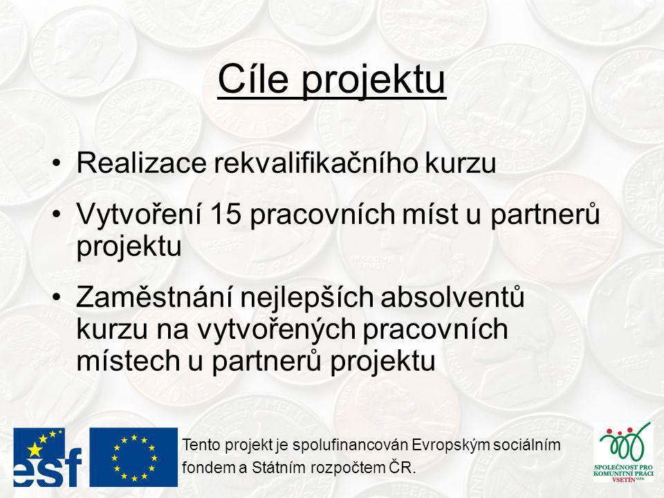 Indikátory projektu - stav Tento projekt je spolufinancován Evropským sociálním fondem a Státním rozpočtem ČR.