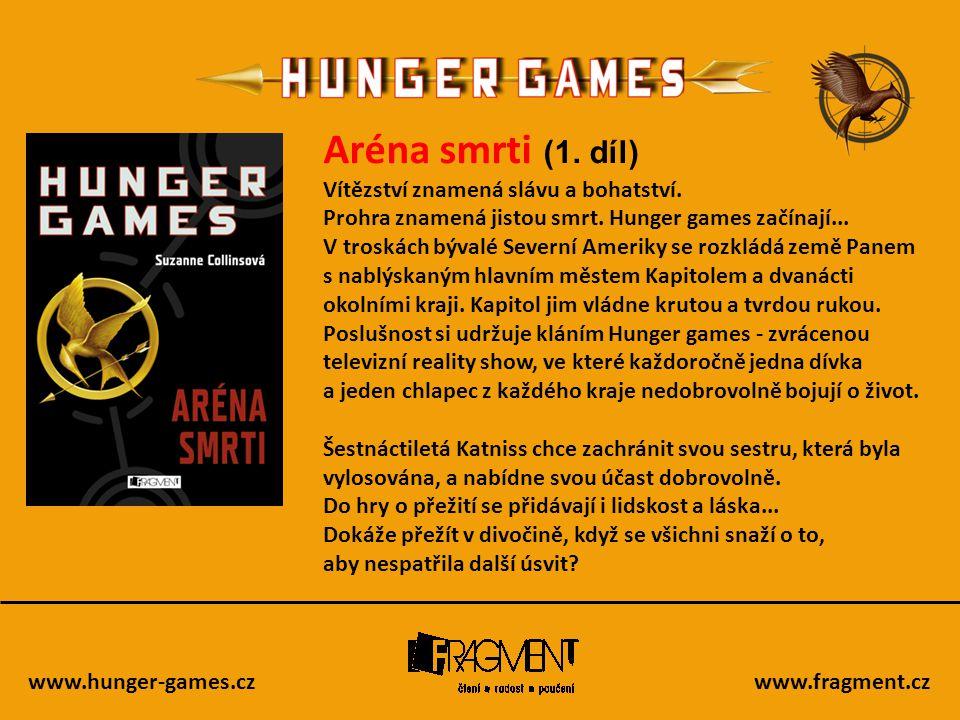www.hunger-games.czwww.fragment.cz Aréna smrti (1. díl) Vítězství znamená slávu a bohatství. Prohra znamená jistou smrt. Hunger games začínají... V tr