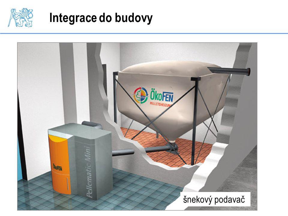 Integrace do budovy šnekový podavač