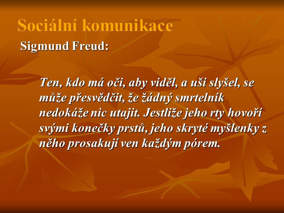 Sigmund Freud: Ten, kdo má oči, aby viděl, a uši slyšel, se může přesvědčit, že žádný smrtelník nedokáže nic utajit.