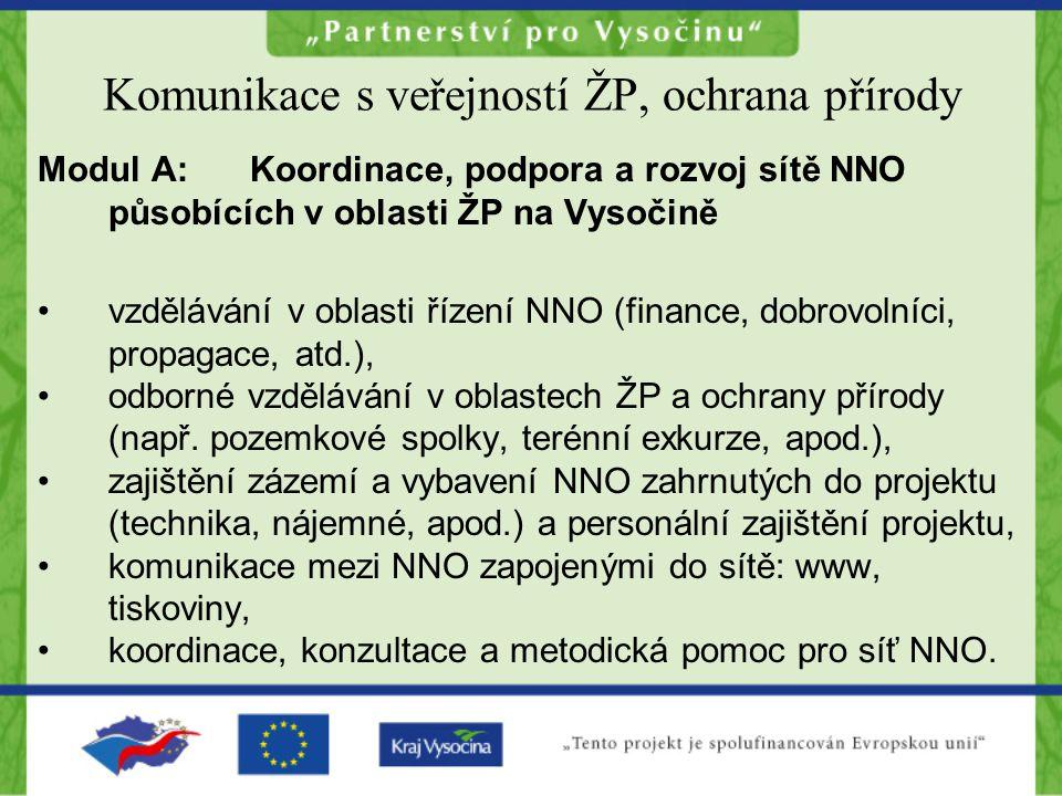"""Děkujeme za vstřícnost a podporu při rozvoji neziskových organizací a za spolupráci v rámci """"Partnerství pro Vysočinu pracovníkům odboru regionálního rozvoje Krajského úřadu kraje Vysočina, jmenovitě pak Mgr."""