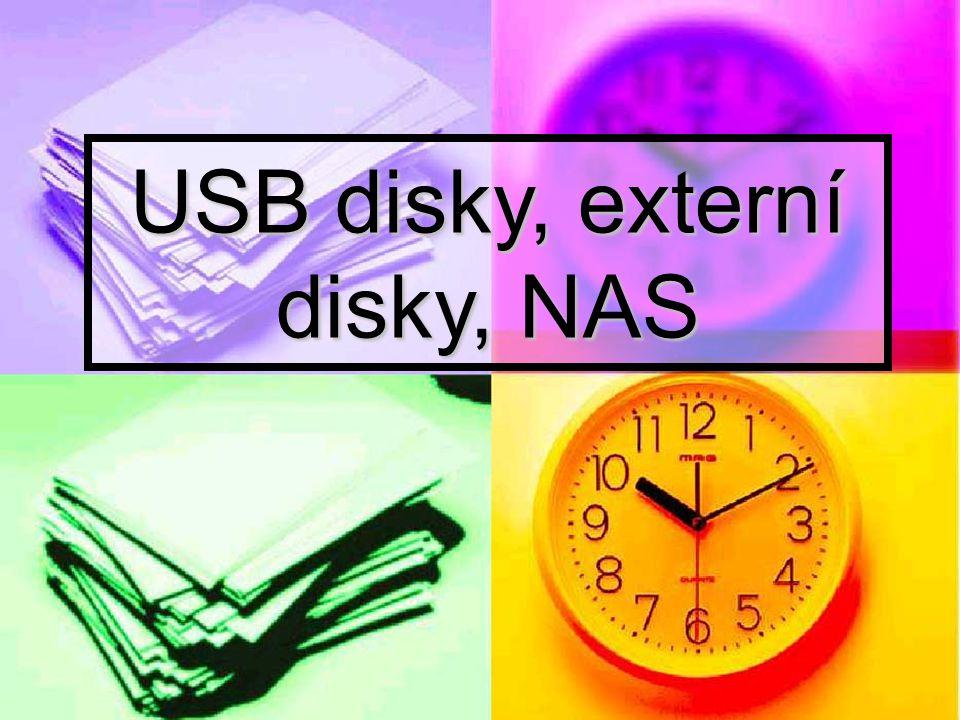 USB disky, externí disky, NAS