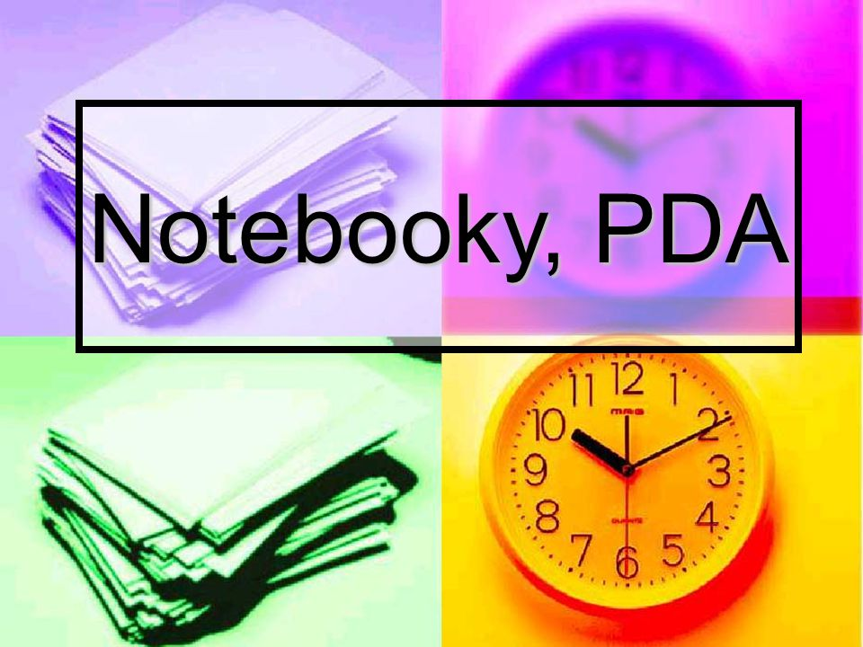 Notebooky, PDA