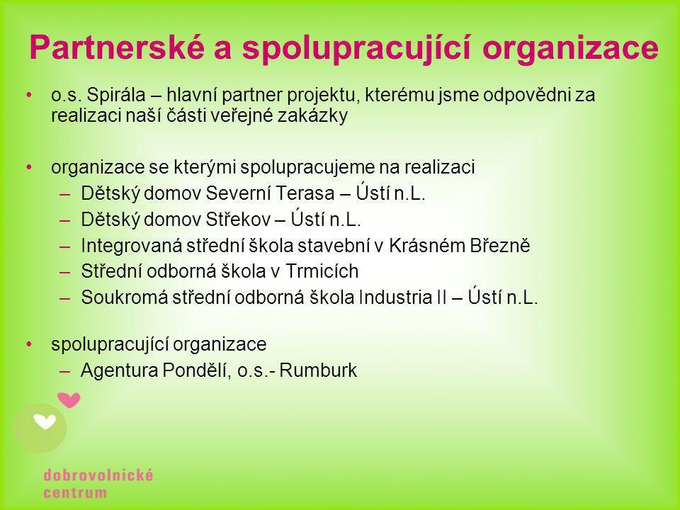 Partnerské a spolupracující organizace •o.s.