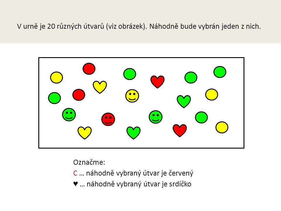 V urně je 20 různých útvarů (viz obrázek).Náhodně bude vybrán jeden z nich.