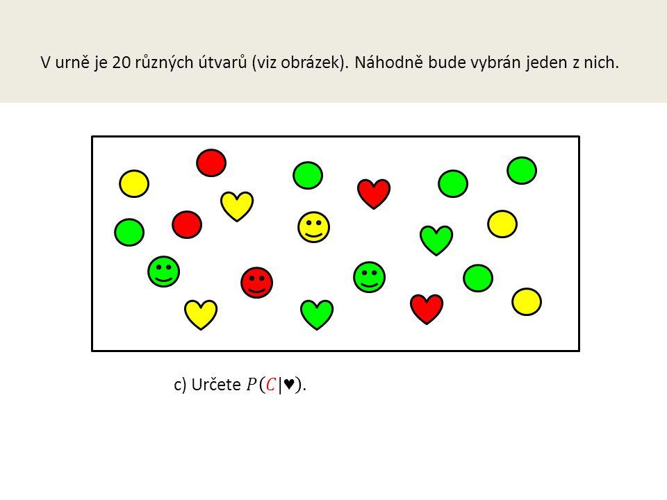 V urně je 20 různých útvarů (viz obrázek). Náhodně bude vybrán jeden z nich.