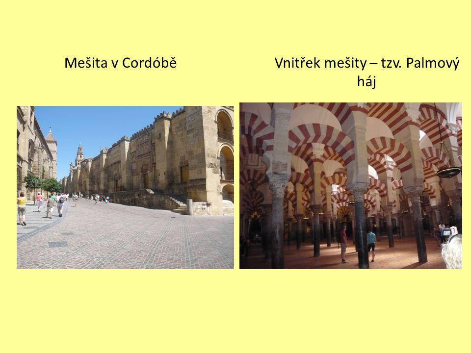 Mešita v CordóběVnitřek mešity – tzv. Palmový háj