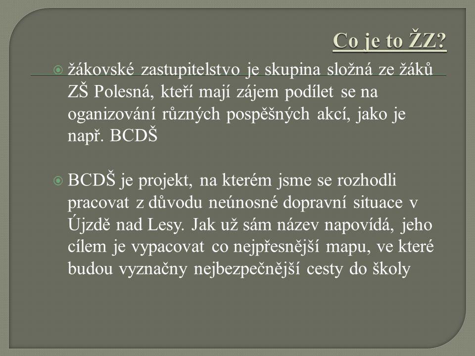  žákovské zastupitelstvo je skupina složná ze žáků ZŠ Polesná, kteří mají zájem podílet se na oganizování různých pospěšných akcí, jako je např. BCDŠ
