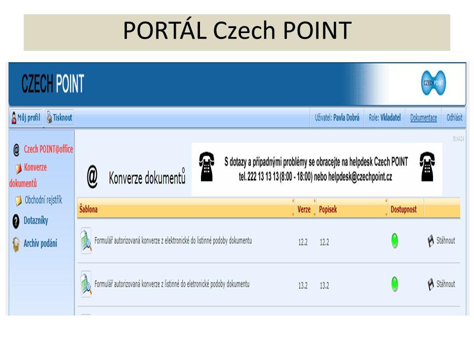 PORTÁL Czech POINT
