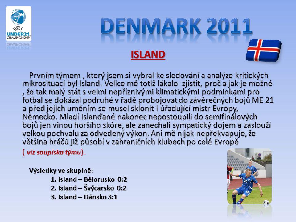 ISLAND Prvním týmem, který jsem si vybral ke sledování a analýze kritických mikrosituací byl Island. Velice mě totiž lákalo zjistit, proč a jak je mož