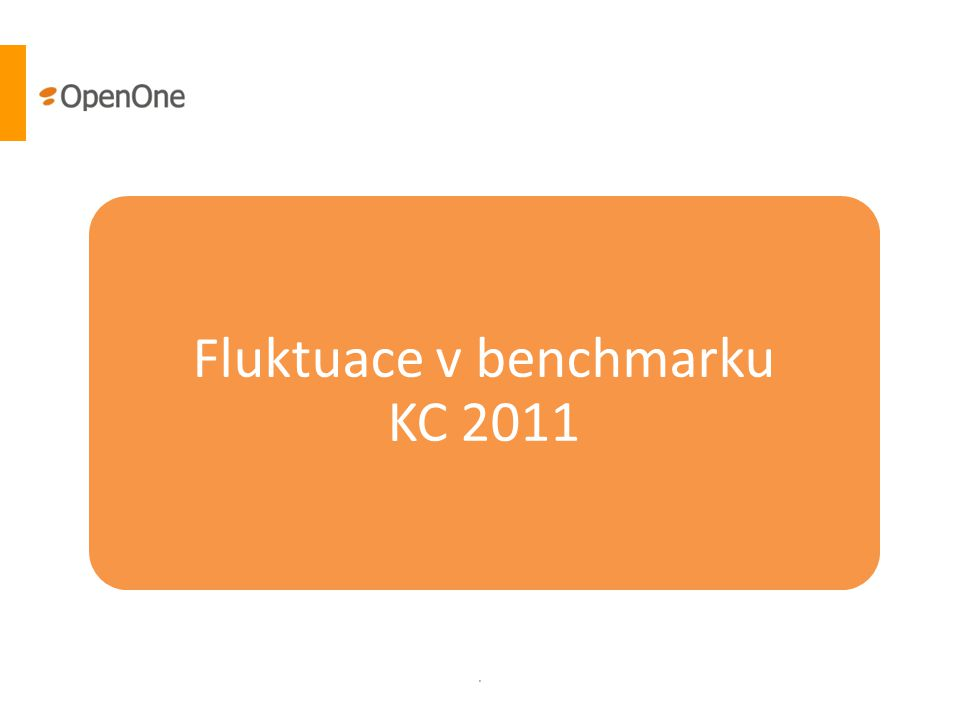 . Fluktuace v benchmarku KC 2011