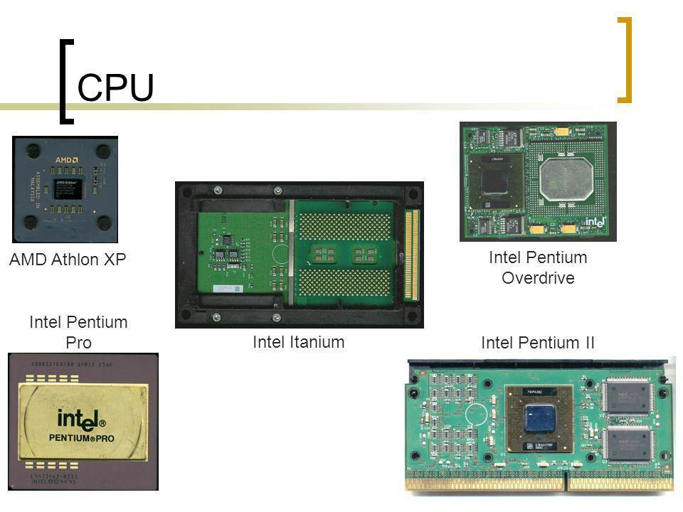 CPU AMD Athlon XP Intel Pentium Overdrive Intel Pentium II Intel Pentium Pro Intel Itanium