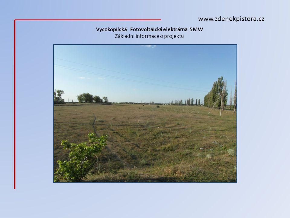 Vysokopilská Fotovoltaická elektrárna 5MW Základní informace o projektu
