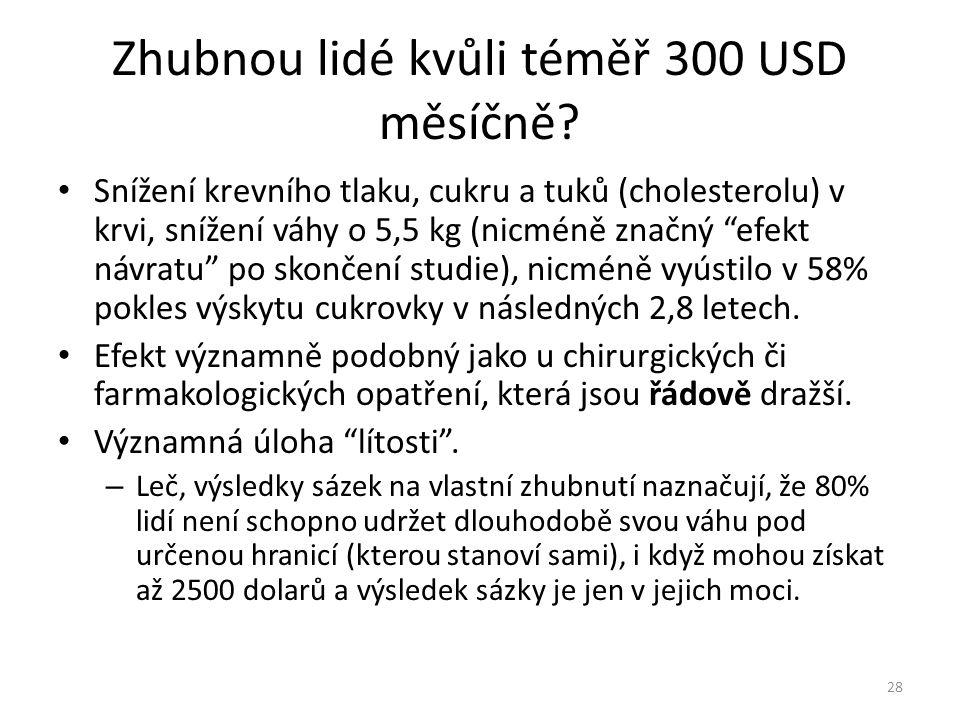 """Zhubnou lidé kvůli téměř 300 USD měsíčně? • Snížení krevního tlaku, cukru a tuků (cholesterolu) v krvi, snížení váhy o 5,5 kg (nicméně značný """"efekt n"""