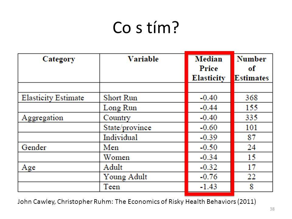 Co s tím? 38 John Cawley, Christopher Ruhm: The Economics of Risky Health Behaviors (2011)