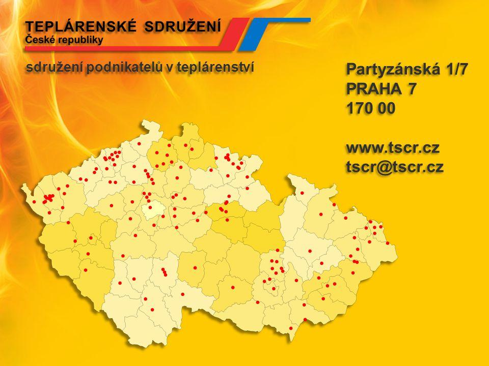 Partyzánská 1/7 PRAHA 7 170 00 www.tscr.cz tscr@tscr.cz Partyzánská 1/7 PRAHA 7 170 00 www.tscr.cz tscr@tscr.cz sdružení podnikatelů v teplárenství