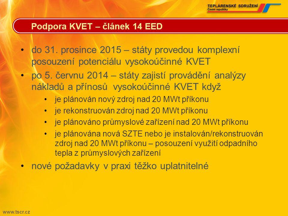 www.tscr.cz •z pohledu distributorů energie klíčový článek •základní cíl pro distributory energie – od 1. ledna 2014 do 31. prosince 2020 každoroční ú