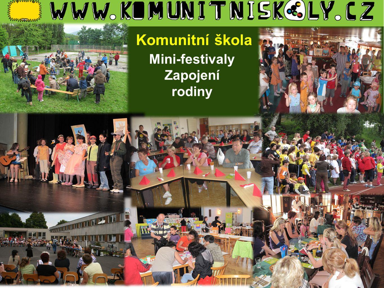 Pro Komunitní škola raji Mini-festivaly Zapojení rodiny