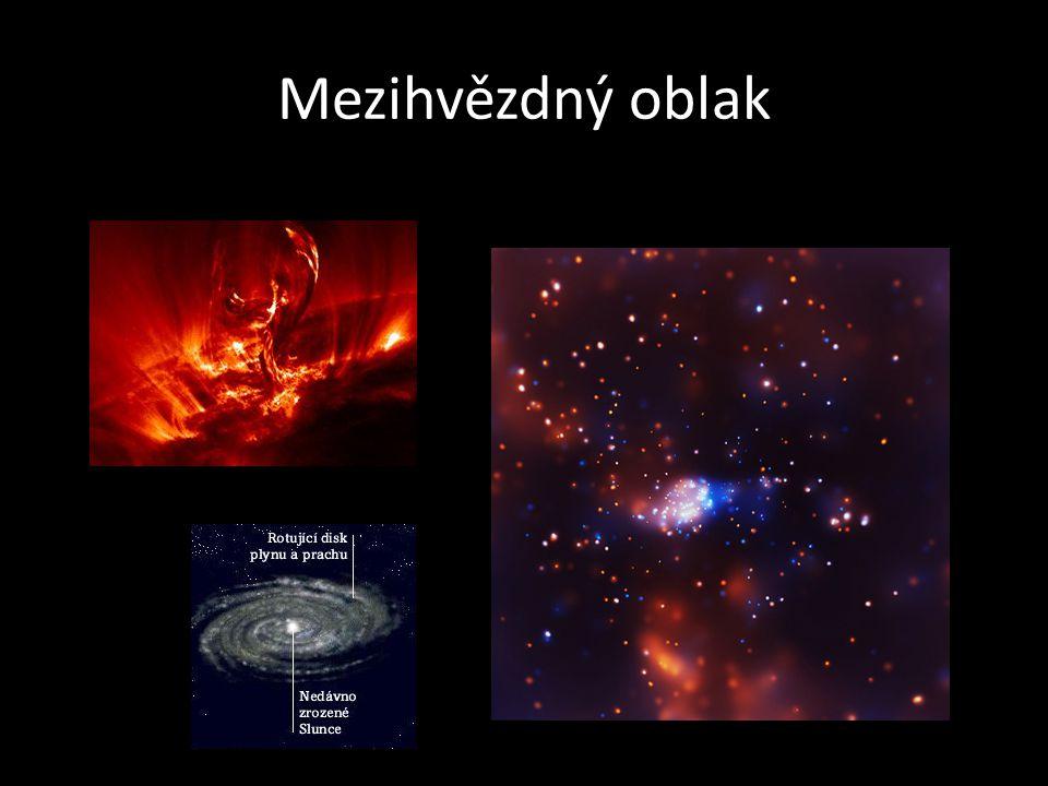 Vznik hvězd • Energie vzniklá termonukleární reakcí je soustředěna převážně do fotonů gama, které jsou na cestě z jádra hvězdy mnohokrát pohlceny při srážkách s jinými fotony a štěpí se na fotony s menší energií.