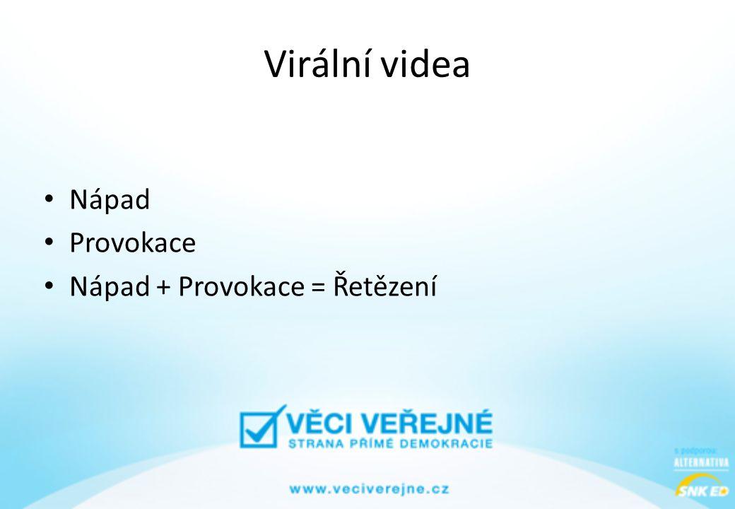 Virální videa • Nápad • Provokace • Nápad + Provokace = Řetězení