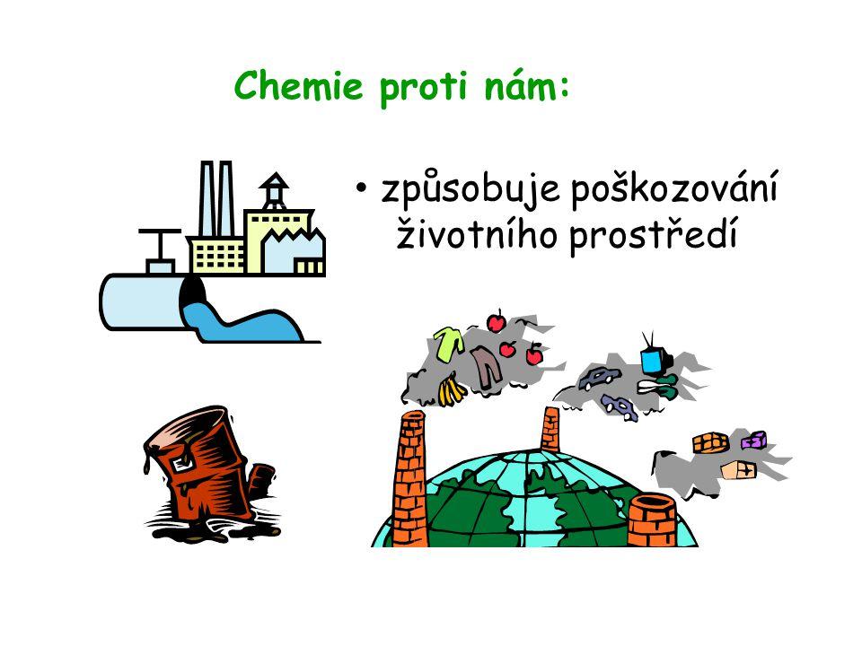 Chemie proti nám: • způsobuje poškozování životního prostředí
