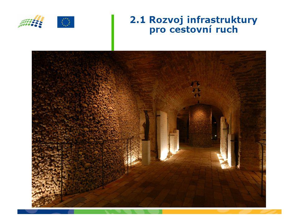 2.1 Rozvoj infrastruktury pro cestovní ruch