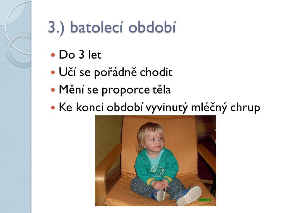 4.) předškolní věk  Do 6 let  Období vytáhlosti  Začínají vypadávat mléčné zuby  Začlenění do dětského kolektivu user:ozgurmulazimoglu,3.10.2011, http://cs.wikipedia.org/wiki/Soubor:ADO_5721.jpg