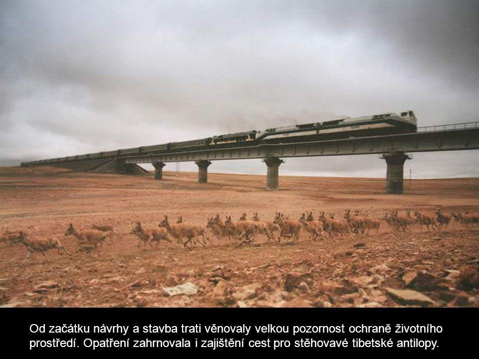 Od začátku návrhy a stavba trati věnovaly velkou pozornost ochraně životního prostředí. Opatření zahrnovala i zajištění cest pro stěhovavé tibetské an