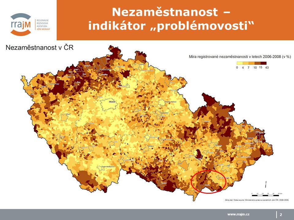 "www.rrajm.cz 2 Nezaměstnanost – indikátor ""problémovosti"