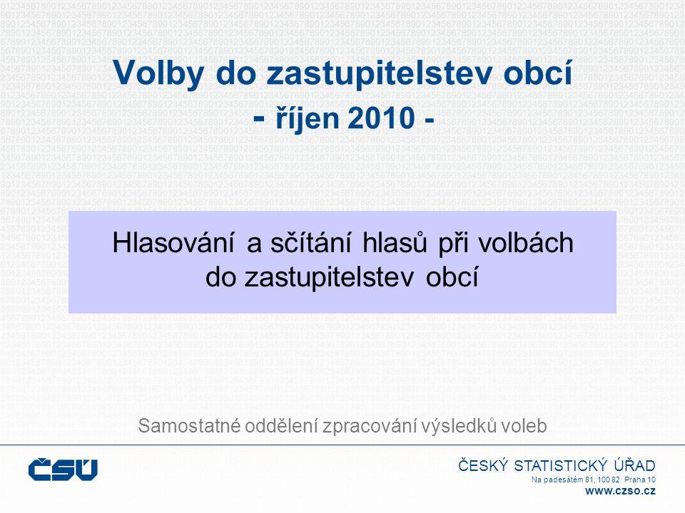 ČESKÝ STATISTICKÝ ÚŘAD Na padesátém 81, 100 82 Praha 10 www.czso.cz Sečtení hlasů pro jednotlivé kandidáty 3 1 12 5 2 0 14 2 7 10 3 1 0