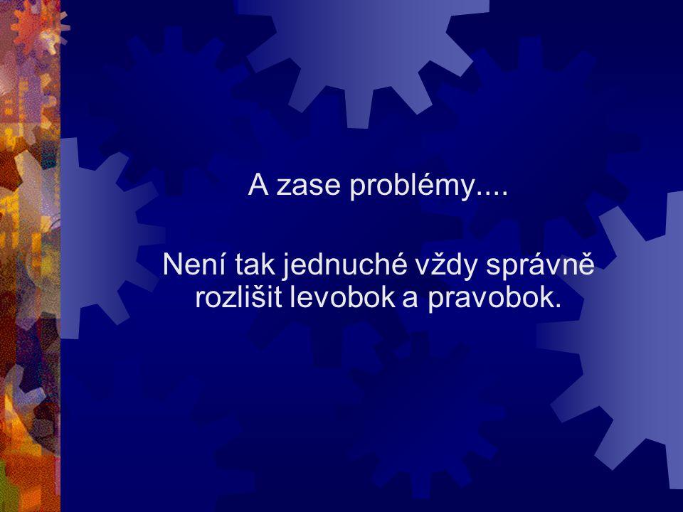 A zase problémy.... Není tak jednuché vždy správně rozlišit levobok a pravobok.