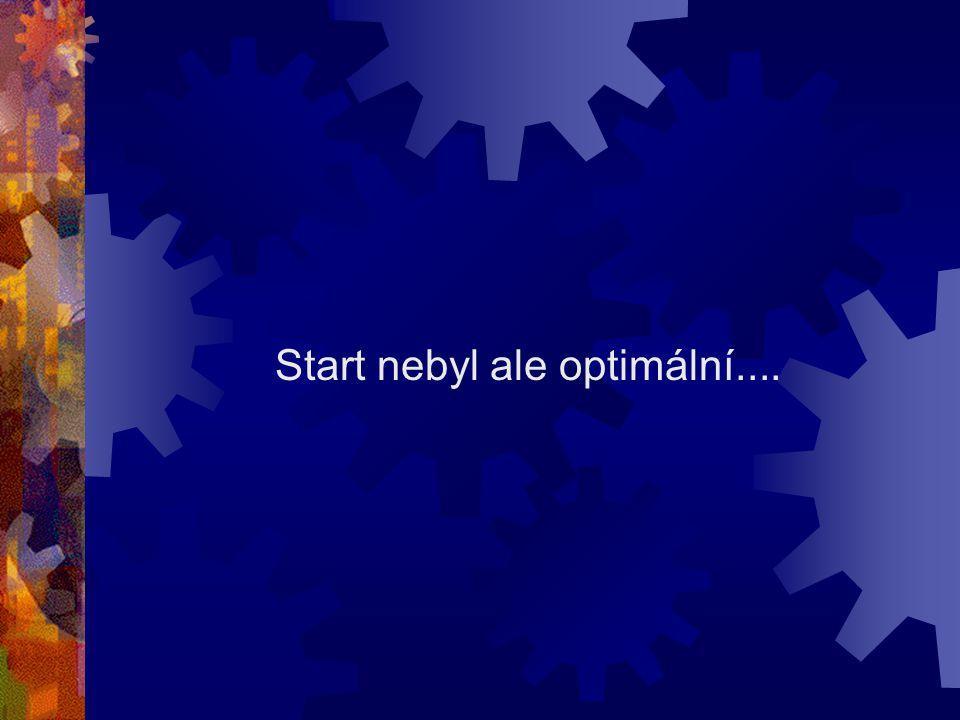 Start nebyl ale optimální....
