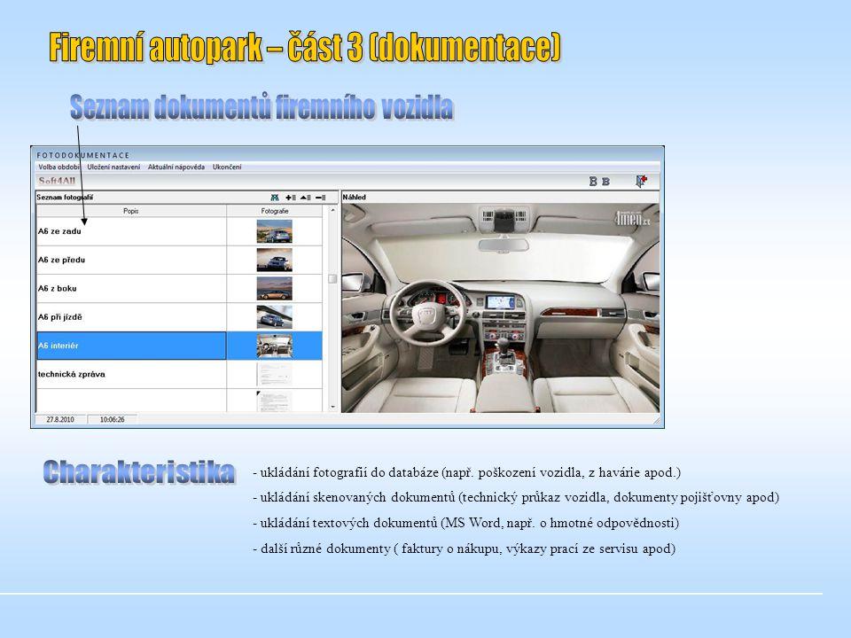 - ukládání fotografií do databáze (např.