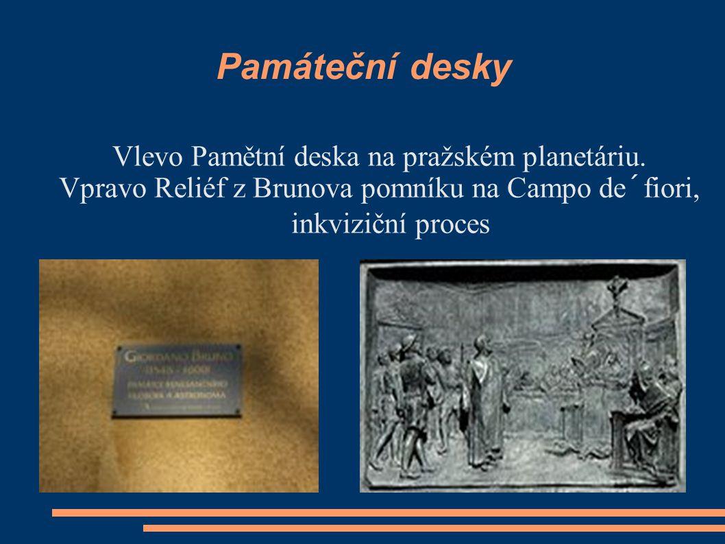 Giordano Bruno - Upálení  V roce 1591 Bruno dostal pozvání k návratu do Itálie  přijal poté, co ztratil možnost získat natrvalo katedru v Padově  P