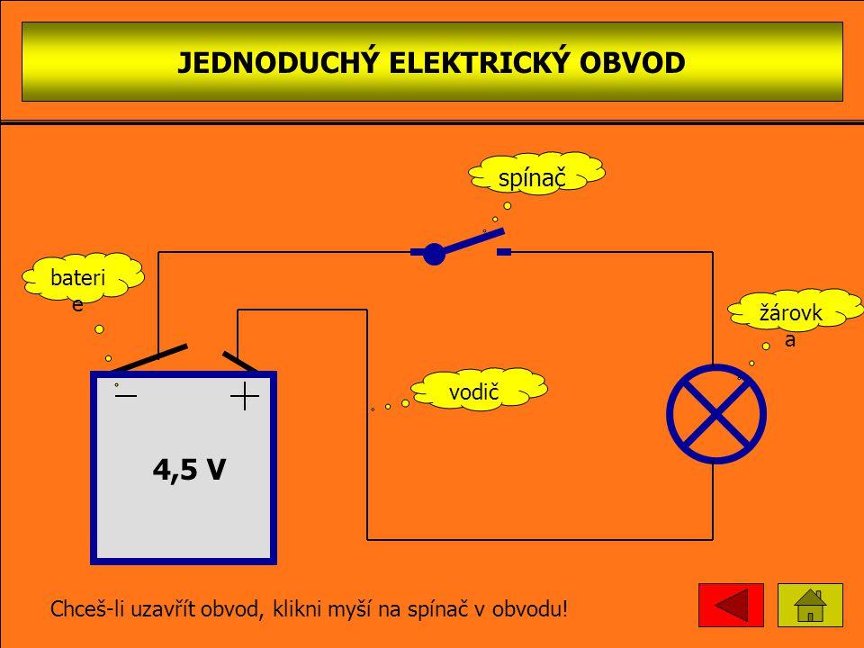 SÉRIO-PARALELNÍ ZAPOJENÍ ŽÁROVEK 4,5 V Chceš-li rozpojit obvod, klikni myší na spínač v obvodu.