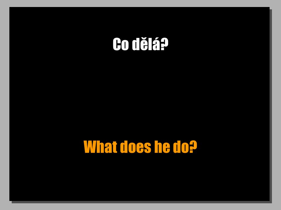 Co dělá What does he do