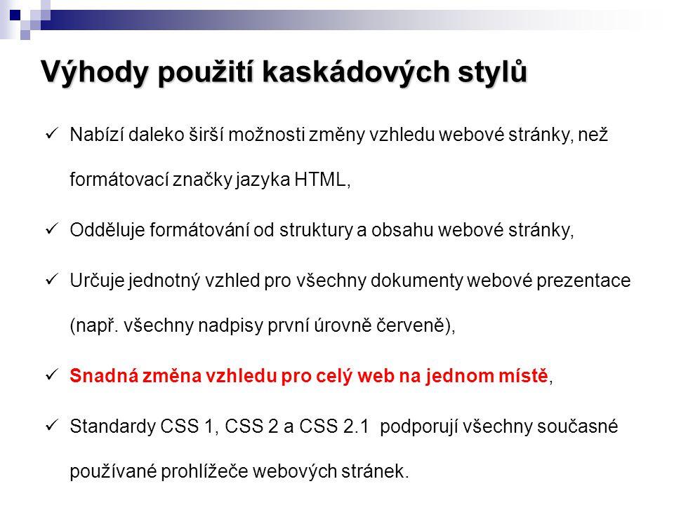 Validátor kaskádových stylů  CSS validátor slouží k nalezení chyb a nestandardních definic podle příslušné specifikace CSS.