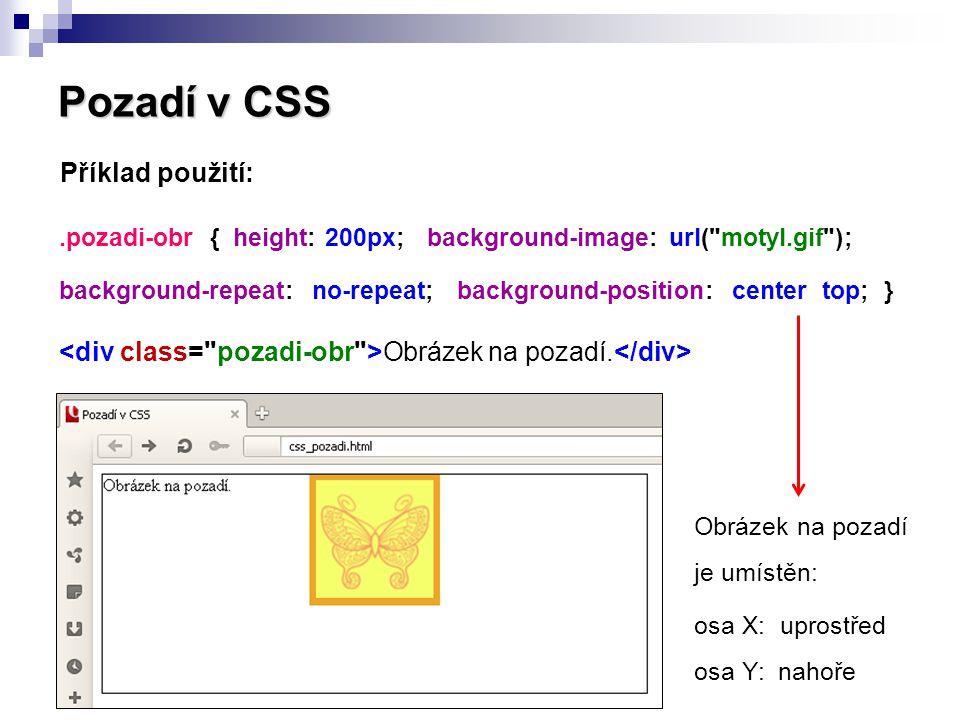 Pozadí v CSS 2.