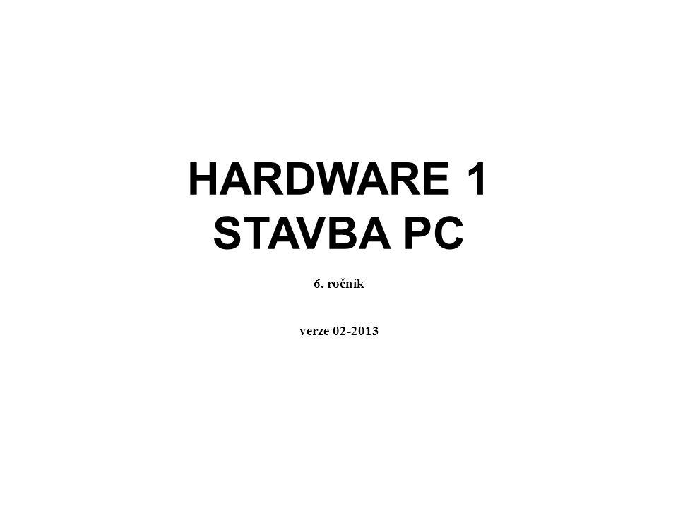 Základní součásti počítače Skříň počítače Základní deska Napájecí zdroj Grafická karta Zvuková karta Síťová karta HDD – pevný disk RAM – operační paměť Mechaniky Přídavné karty CPU – procesor většinou součástí desky, kvalitnější samostatně