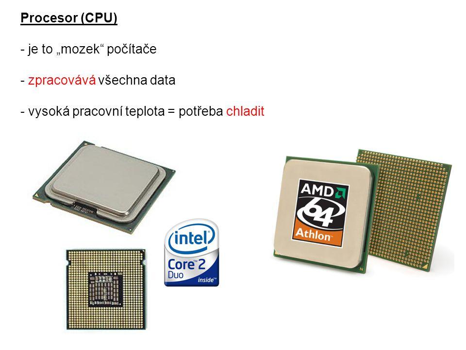 """Zdroj napětí - napájí ostatní hardwarové komponenty - důležitý je jeho výkon – aby """"utáhl všechny komponenty (dnes běžně 400 – 500 W)"""