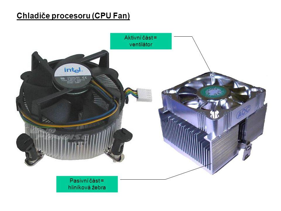 Na zadní straně PC najdeme konektory pro připojení dalších zařízení, např.: (myš) (klávesnice) (poč.