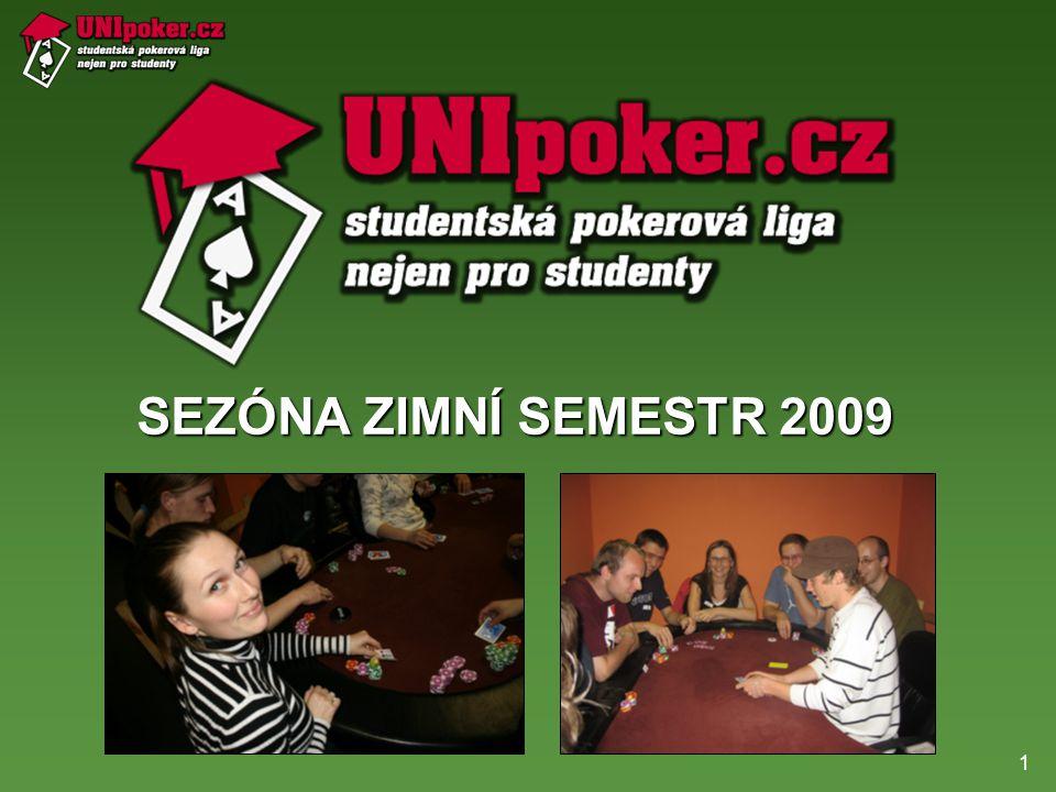 1 SEZÓNA ZIMNÍ SEMESTR 2009