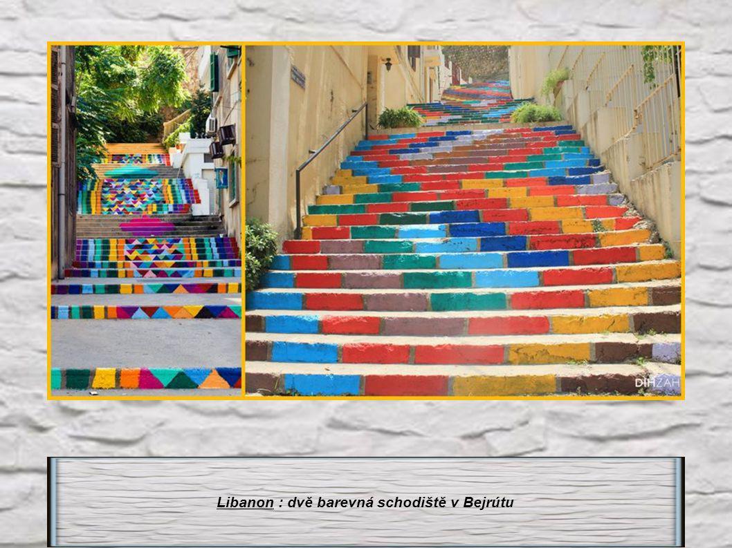 Brazílie : Schodiště Selaron v Rio de Janeiro 125m dlouhé -215 schodů, 2000 dlaždic ze 120 zemí.